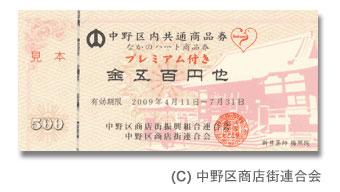 ホームページ用のプレミアム商品券画像を公開
